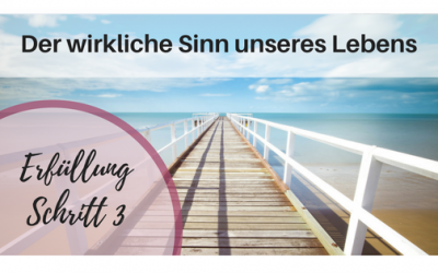 Erfüllungspfad Schritt 3 – Der wirkliche Sinn unseres Lebens